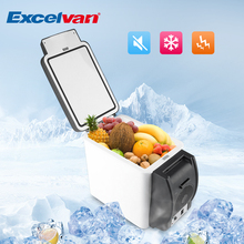 Excelvan Car Mini Fridge Portable 12V 6L Auto Refrigerator Quality ABS Multi-Function Home Cooler Freezer Warmer(China)