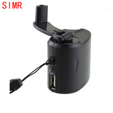 SIMR 2016 New Useful Good Quality  Hand Power Dynamo Hand Crank USB For Mobile Phone Cell Phone Charger Mini Emergency