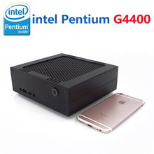 8G RAM 128G SSD Mini Desktop Computer with intel pentium G4400, Tiny PC Gamer with 4K HD Graphics 510, 2C2T up to 3.3GHz, Win 10
