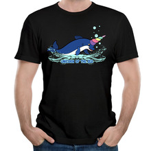 Unicorn Of The Sea And Dolphin T Shirts Men Cotton Cool Male t-shirt Casual Short Sleeve O Neck Fashion Printed Man Tops Tee