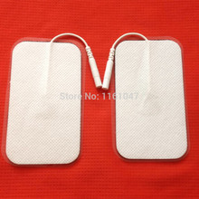 10pcs/lot good quality Plug 2MM 9*5cm Electrode Pads for Tens Acupuncture,Slimming massager , Digital Therapy Machine Massager