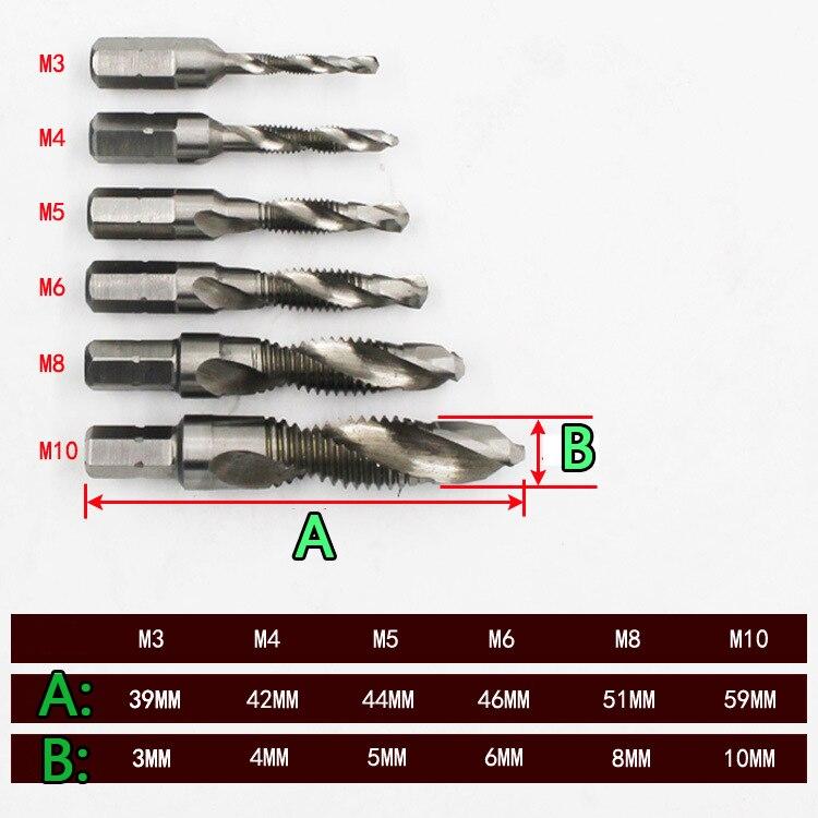 HSS-Titan-Maschinenspiral-Punkt-Stecker-Hahn und Formschraubendreher-WerkzeugAB