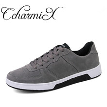 CcharmiX Men Casual Shoes Spring Autumn New Style Lace Up Mens Shoes Large Sizes Suede Leather Luxury Sneakers Male Footwear(China)