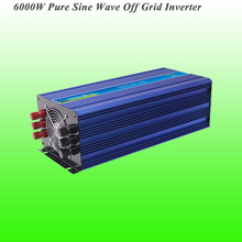 2017 New Arrival DC12V/24V/48V Input 6000W Off Grid Pure Sine Wave Inverter CE/ROHS/ISO9001 Approved Wind Generator Inverter(China)