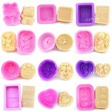 Multifunctional 22 style choice Chocolate Mold  DIY Silicone Soap Mold Fondant Cake Decorating Tools
