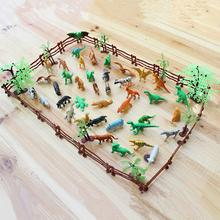 68PCS/set Plastic Farm Yard Wild Fence Tree Animals Model Kids Toys Figures Play Set Toys For Children Kids Adult