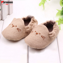New Cute Baby Boy Girl Knitted Cotton Crib Shoes Infant Toddler Newborn Cartoon Elastic First Walkers Soft Slipper Crib Shoes(China)