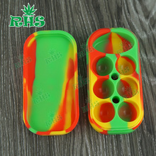 Food grade 34ml silicone container, large capacity 6+1 silicon oil dab wax container wholesale with cheap price 1pcs free ship