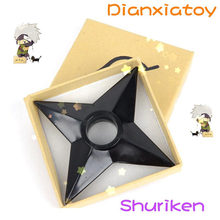 1:1 Anime Naruto PVC shuriken in box Japanese Ninja Cosplay Weapon Props Boy Gift Children Toy Dianxiatoy(China)
