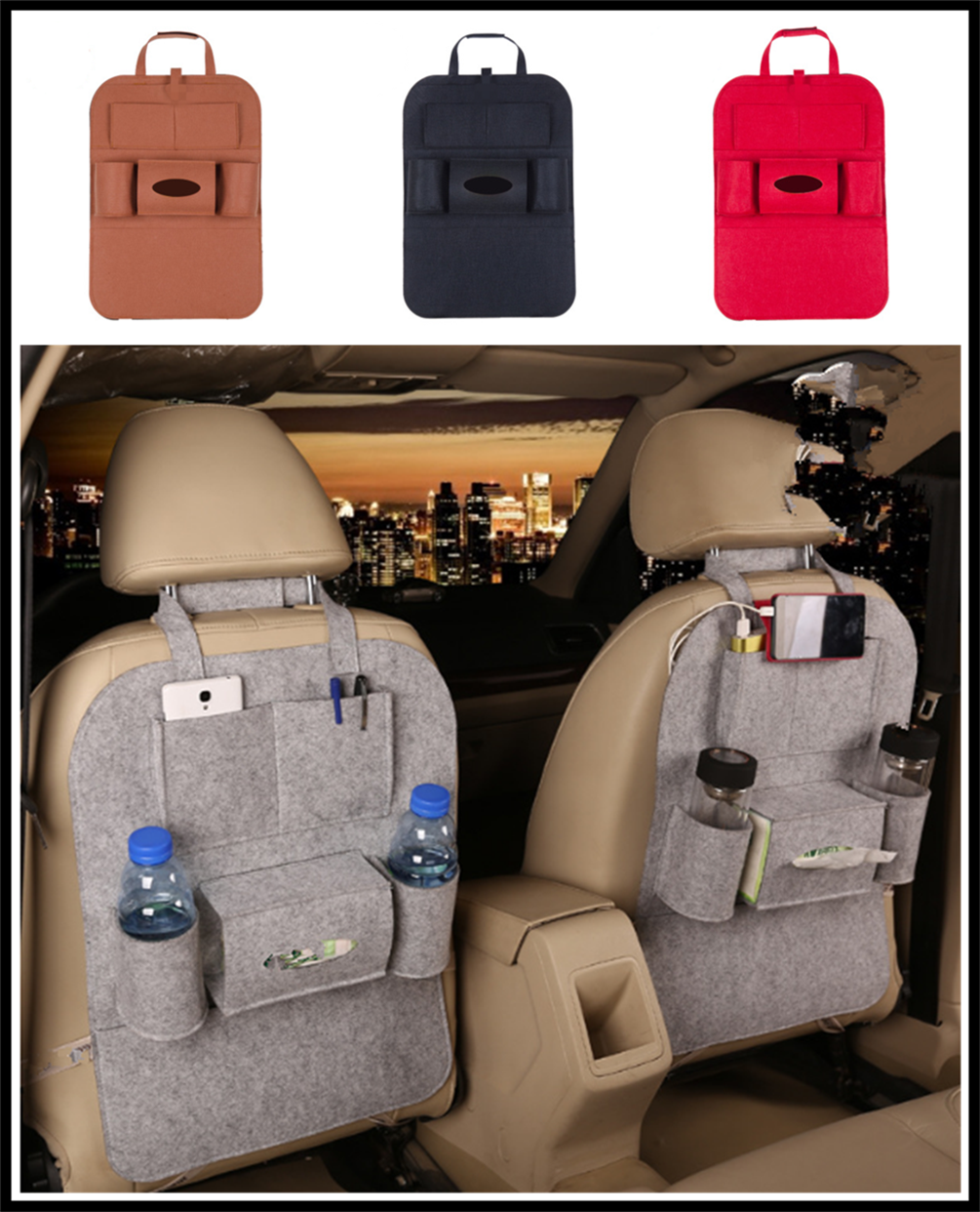 New car interior seat bag storage multi-port finishing debris rack for Kia eco Pro-cee-d KOUP cee-d Rondo Kue Kee