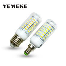 Super LED Bulb E27 E14 SMD 5730 LED Lamp 24 36 48 56 69leds 220V lampada LED Corn Bulb light Chandelier led lights for home(China)