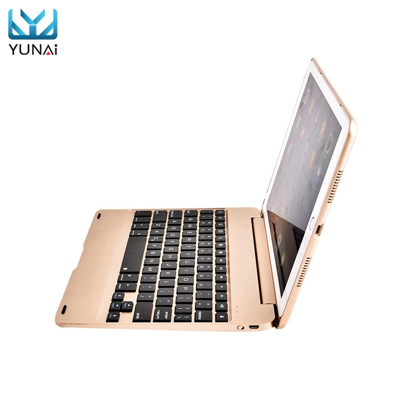 YUNAI Wireless Bluetooth Keyboard With Stand For iPad Pro 9.7 Foldable Case Stand Cover Holder For Apple For iPad Por 9.7<br>