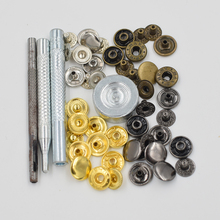 50 sets per pack.Button. rivet. Metal buckle combination.Clothing & Accessories. Sewing repair.Metal buttons. Metal snap