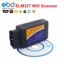 Newest ELM327 WIFI Wireless Auto Car Code Reader Interface Android/iOS/Windows OBD2 WIFI ELM 327 Support Multi-language