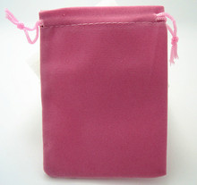 OneckOha Pink Color!9*12cm Velvet Bag Cotton Pouch Jewelry Packaging Materials 50pcs/Lot