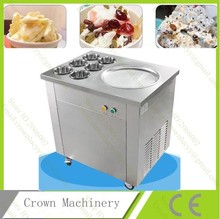 Free Shipping Big pans fried ice cream machine frying ice machine ice pan machine with 6 barrels