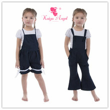 Kaiya Angel kids Denim Overalls Summer Children Clothing Baby Girl Princess Birthday Party Clothes Factory Wholesale(China)