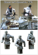 [tuskmodel] 1 35 scale resin model figures kit WW2 german tank commander(China)