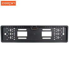 European Europe Car License Plate Frame Auto Reverse Rear View Backup Camera 4 LED Universal CCD IR Night Vision