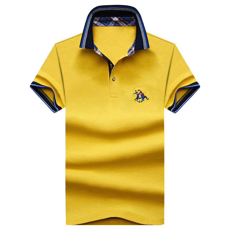 9Color Horse men quality cotton summer brand short golf riding man s male clothing 4XL large size Muls 2017 new arrival-03