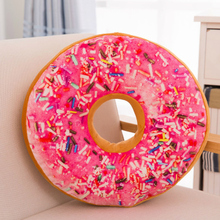 3D Creative Super Soft Pillow Simulation Chocolate Donut Cushion Large Office Nap 2017 New Fashion Christmas Birthday Present
