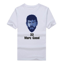2017 Men #33 Marc Gasol T-shirt Memphis Tees Short Sleeve T SHIRT Men's Spain 100% Cotton W1025015