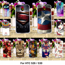 Phone Painted Covers Cases For HTC Desire 526 326 526G 526G+ 326G 530 630 Cover Case Cellphone Housing Back Skin Shell Bags