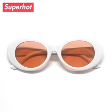 Oval Sunglasses Brand designer men clout goggles Transparent Lens Fashion Sun glasses Unisex Oculos de sol(China)