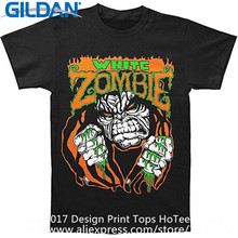 Cool Shirt Designs Gildan O-Neck Graphic Short Sleeve Mens White Zombie Monster T Shirts(China)