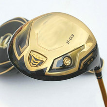 New Golf driver H S-03 4 star Gold driver clubs 9.5 or 10.5 loft Golf clubs Graphite Golf shaft R or S flex Free shipping(China)
