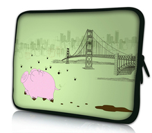 "Pig 10""Netbook Laptop Sleeve Bag Case Cover Pouch For iPad Air 1 Air 2 10.1"" ASUS Eee Pad TF10 Tablet PC,Waterproof"