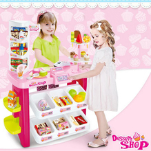 Innovative,fun,realistic,making,special,ice cream,DIY,best gifts,two kinds,play with friends,pretend play,Dessert shop toys set