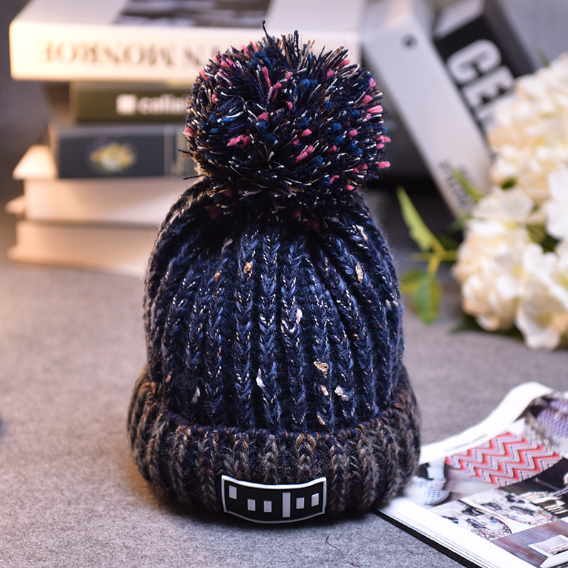 Fashion Women Cap Han Edition Cute Lady Winter Keep Warm Earmuffs Thickening Casual  Ball Color Matching Knitting Hat OutdoorОдежда и ак�е��уары<br><br><br>Aliexpress
