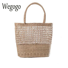 Women Straw Bag Boho Handbags Handmade Braided Ladies Holiday Beach Bag Indian Thai Travel Woven Bohemian Shopping Bag(China)