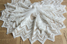 Garment accessories / lace embroidery / fine wave curve mesh embroidery lace yarn