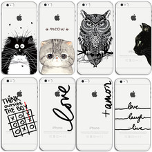 For Apple iphone 4 4S 5 5S SE 5c 6 6s 7 Plus Case Cute Cats Nique Portuguese Words Love Amor Coque Luxury Hard Back Phone Cover