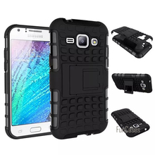 For Samsung Galaxy J1 J100 Case 4.3inch Hybrid Kickstand Rugged Rubber Armor Hard PC+TPU With Stand Function Cover Cases