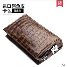 hlt new thai crocodile skin code lock business belly male crocodile leather real leather man clutch bag large volume handbag(China)