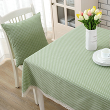 Garden Fresh Style Tablecloth with Lace Cotton Print Dinning Coffee Tea Table Cover Home Decor(China)