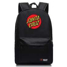 New Arrival OEM Skateboard Skate Santa Cruz Backpack students Couple Printing candy color leisure bags