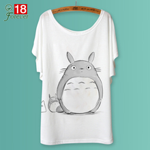 2017 Casual T-shirt Women T Shirt Harajuku Animal Print Totoro Camisetas Mujer Loose Tops o-neck tshirt Graphic Tee shirt Femme
