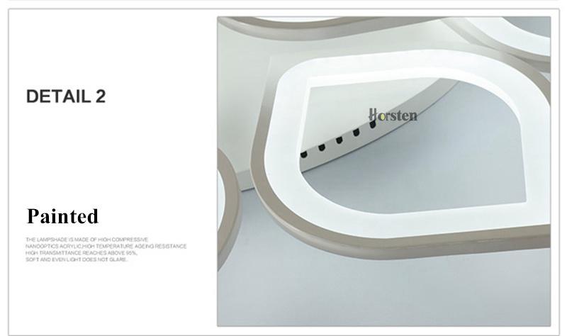 Horsten Remote Control Modern LED Ceiling Lights For Living Room Bedroom Acrylic Ceiling Lamps Flower Design Celing Lamp 90-260V (19)