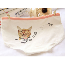 Buy 4Pcs/Lot Cute Girl Panties Underwear Cat Briefs Cotton Lingerie Soft Comfortable Panty WholesaleNH3763