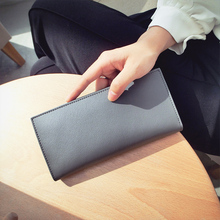 Buy Fashion Women Genuine Leather Long Wallets Monederos Carteira Feminina Solid Coin Purse Card Holder Clutch Bags for $11.49 in AliExpress store
