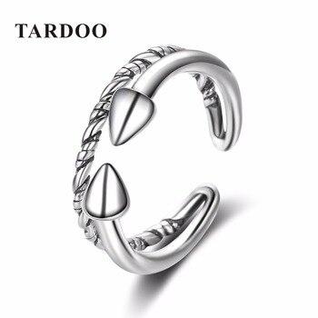 Tardoo Popular Estilo de Rock Declaración Brazalete Ajustable Anillo de Plata Esterlina Anillos para Las Mujeres de Lujo Classic Fine Jewelry