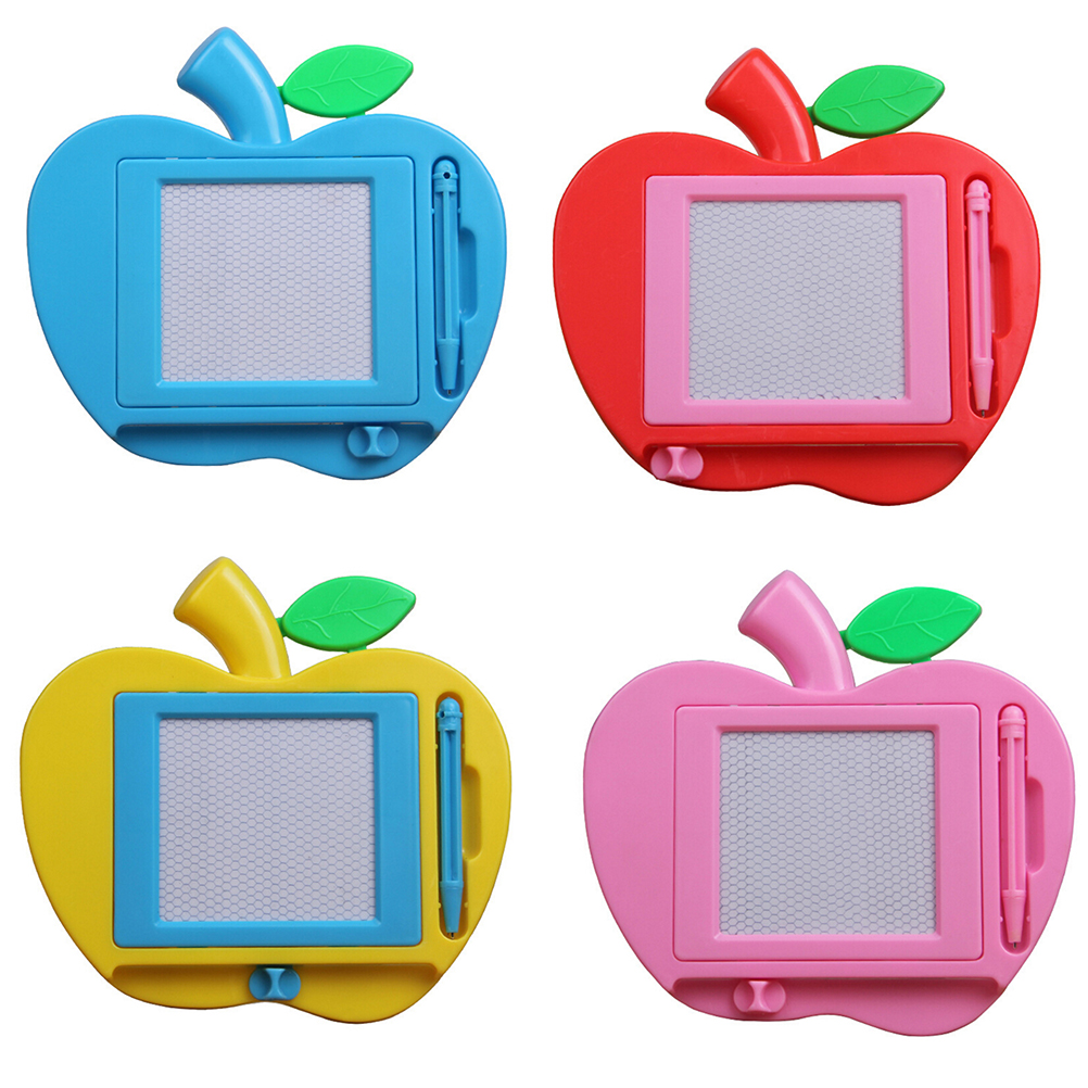 4 Colors Apple Shape Children Kid Magnetic Writing Painting Drawing Graffiti Board Toy Toddler Learning Toys New Arrival