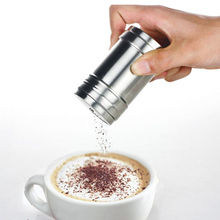 Hot 1Pc Stainless Steel Chocolate Sugar Shaker Coffee Accessories Cocoa Powder Cinnamon Dusting Tank Kitchen Cooking Tool 2017