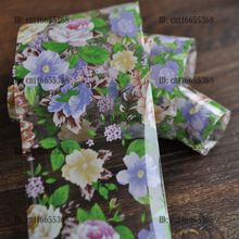 Nail Art Salon Wholesale Products Nail Art Transfer Foil Roll Purple Yellow Light Color Flowers YC453
