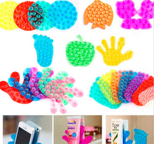 wholesale cute double side suction magic sucker for bathroom mobile phone sticker stand holder vacuum suckerB085
