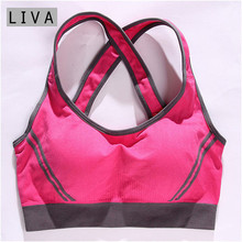 Sexy Vest Multiple Women Padded Tank Tops Bra Good Quality Women Female Padded Tank Top Fitness Workout Bra(China)
